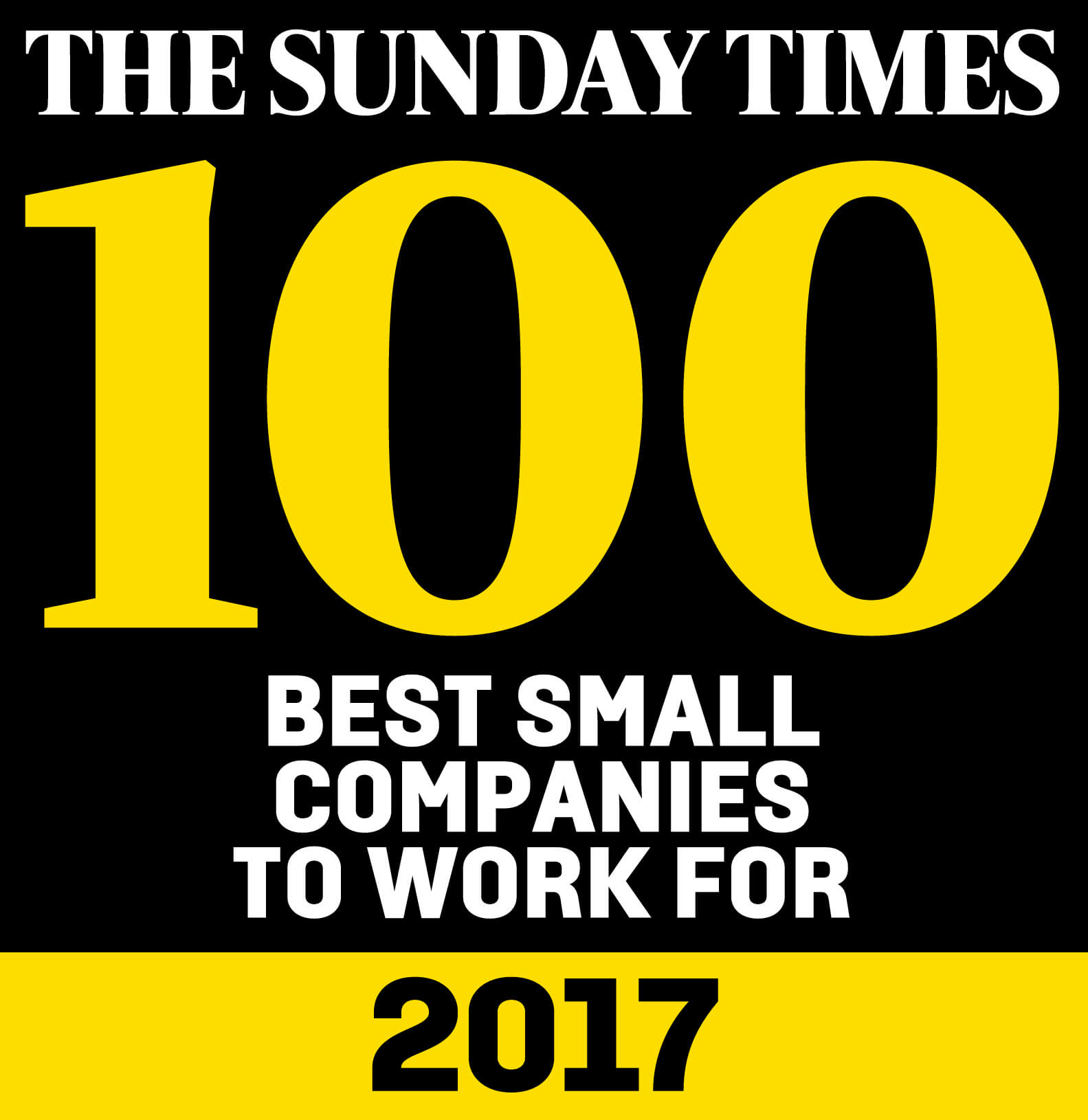 sunday times top 100 best small company to work for 2017 oakleaf